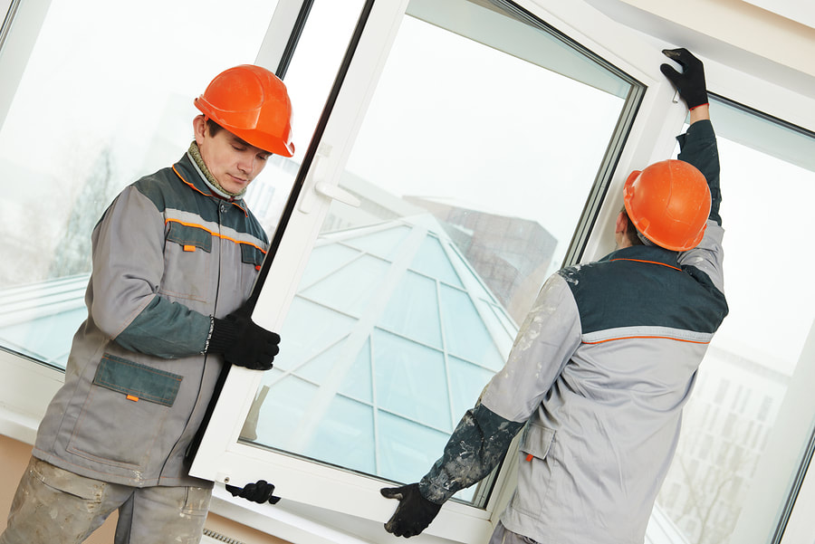 commercial window glass installation
